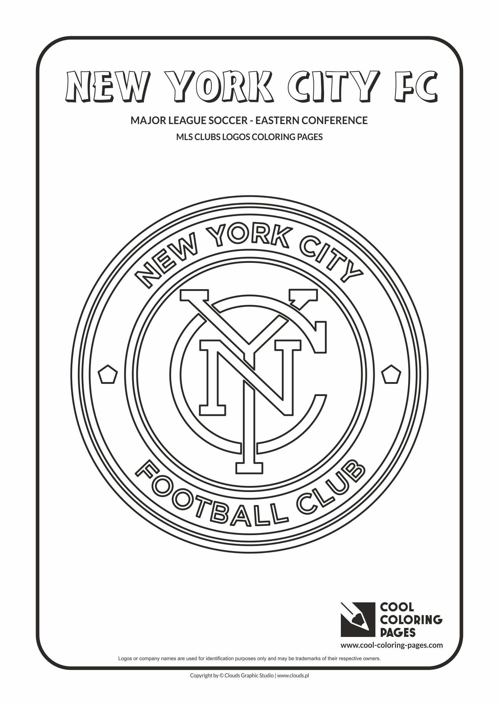 Cool Coloring Pages - Major League Soccer Logos - Eastern Conference / New York City FC logo / Coloring page with New York City FC logo