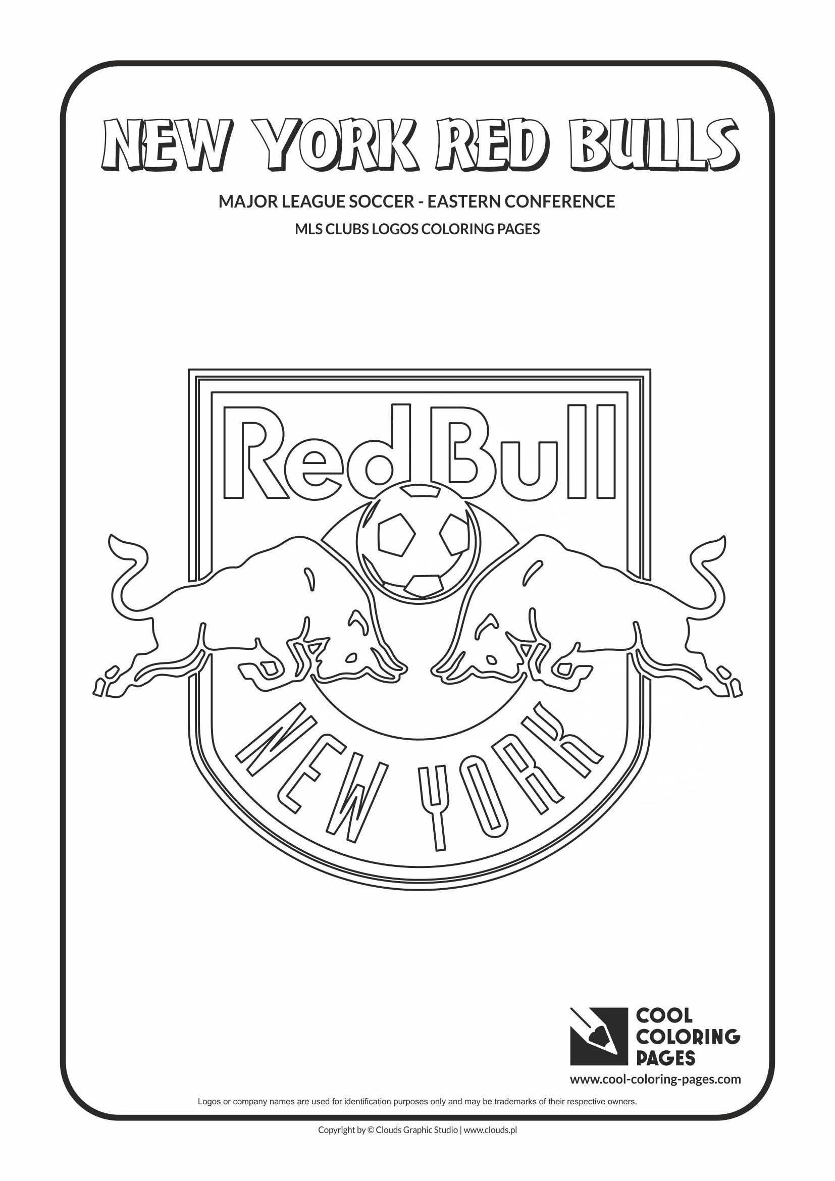 Cool Coloring Pages - Major League Soccer Logos - Eastern Conference / New York Red Bulls logo / Coloring page with New York Red Bulls logo