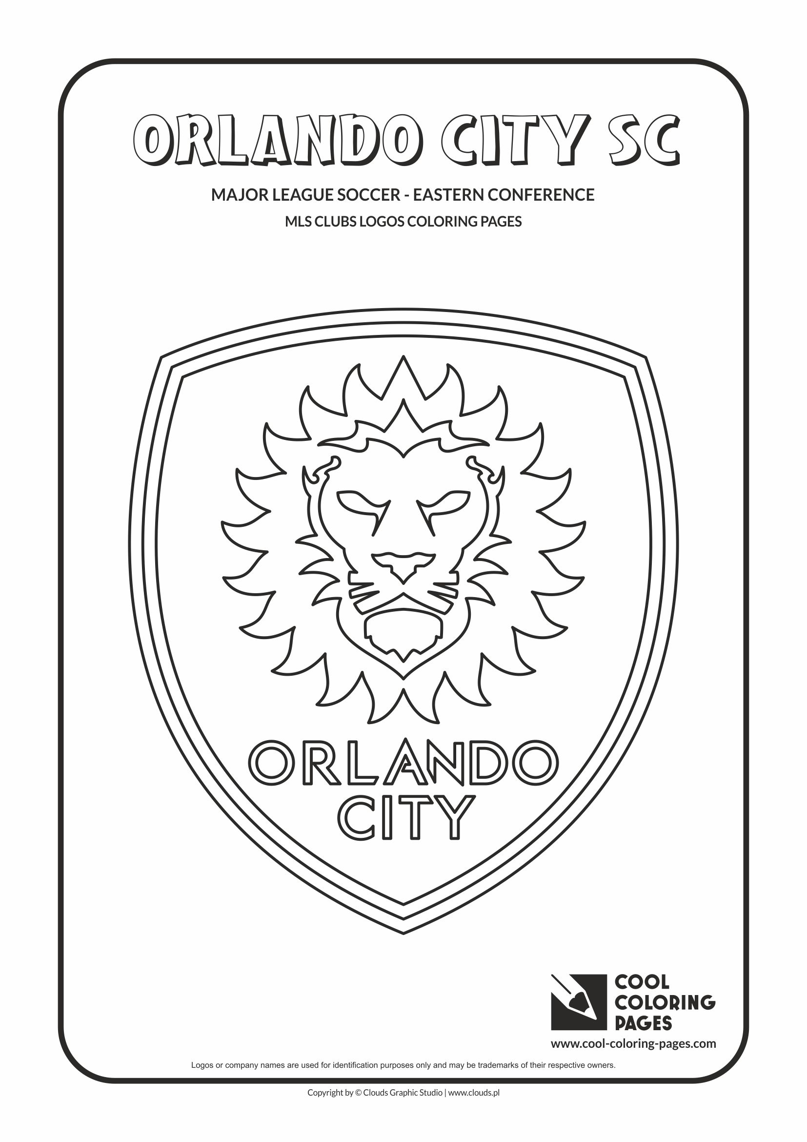 Cool Coloring Pages - Major League Soccer Logos - Eastern Conference / Orlando City SC logo / Coloring page with Orlando City SC logo