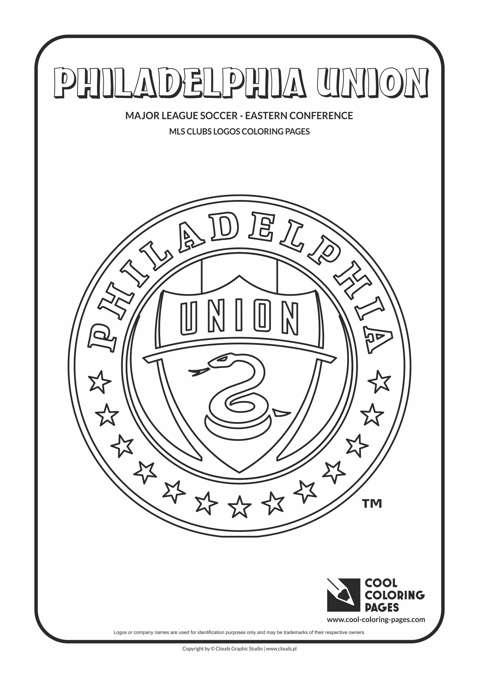 Cool Coloring Pages - Major League Soccer Logos - Eastern Conference / Philadelphia Union logo / Coloring page with Philadelphia Union logo