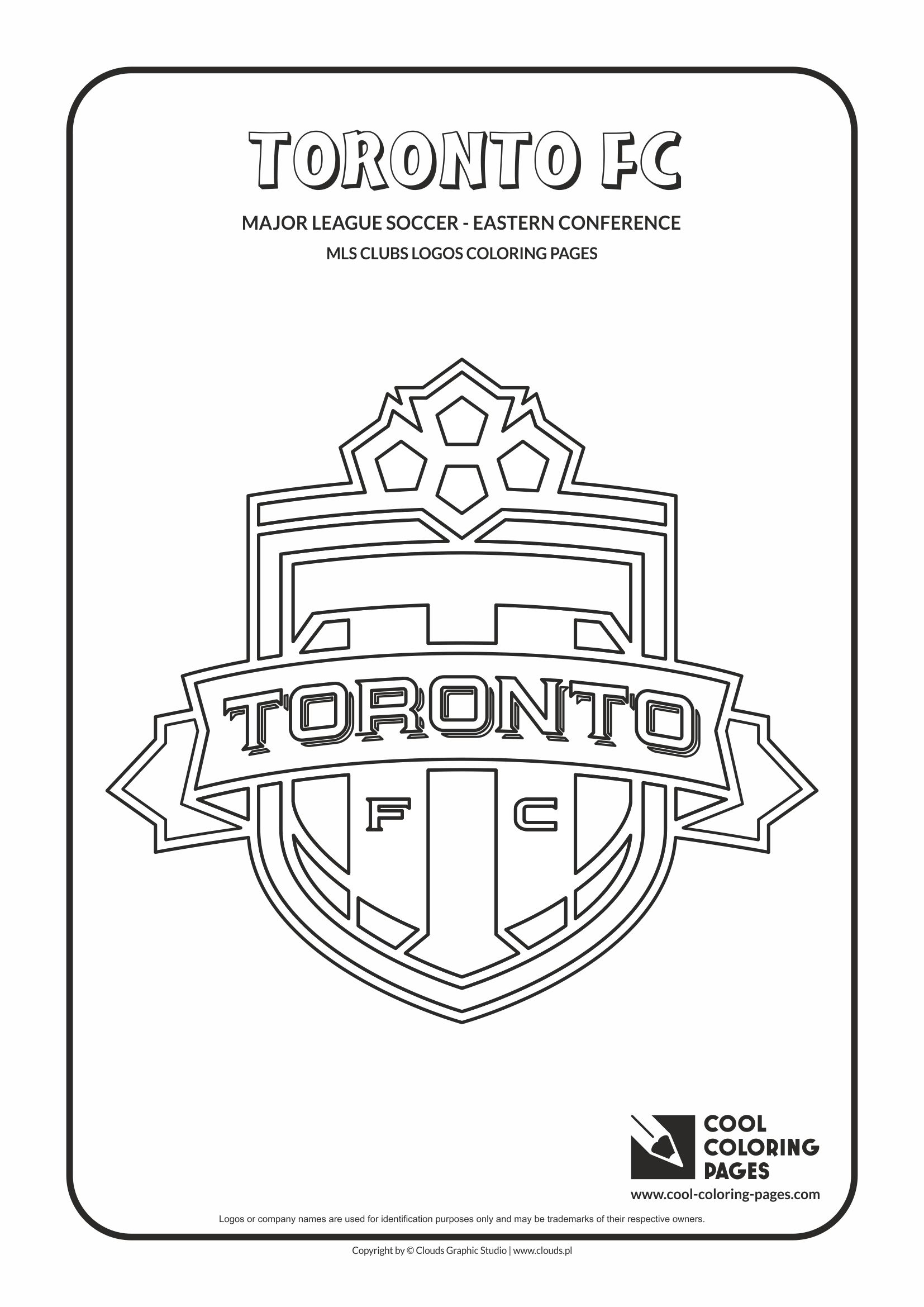 Cool Coloring Pages - Major League Soccer Logos - Eastern Conference / Toronto FC logo / Coloring page with Toronto FC logo