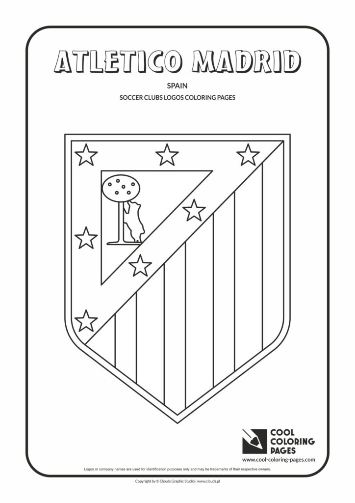 Cool Coloring Pages Atl 233 Tico Madrid Logo Coloring Page