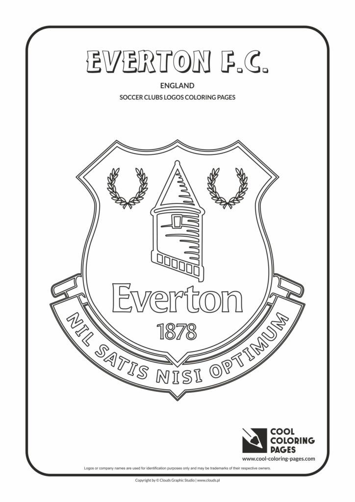Cool Coloring Pages Everton F C Logo Coloring Page Cool