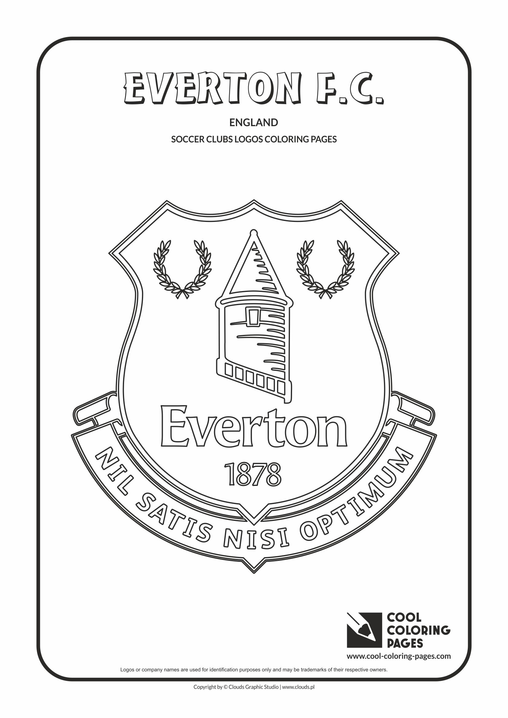 Everton F.C. logo coloring / Coloring page with Everton F.C. logo / Everton F.C. logo colouring page.