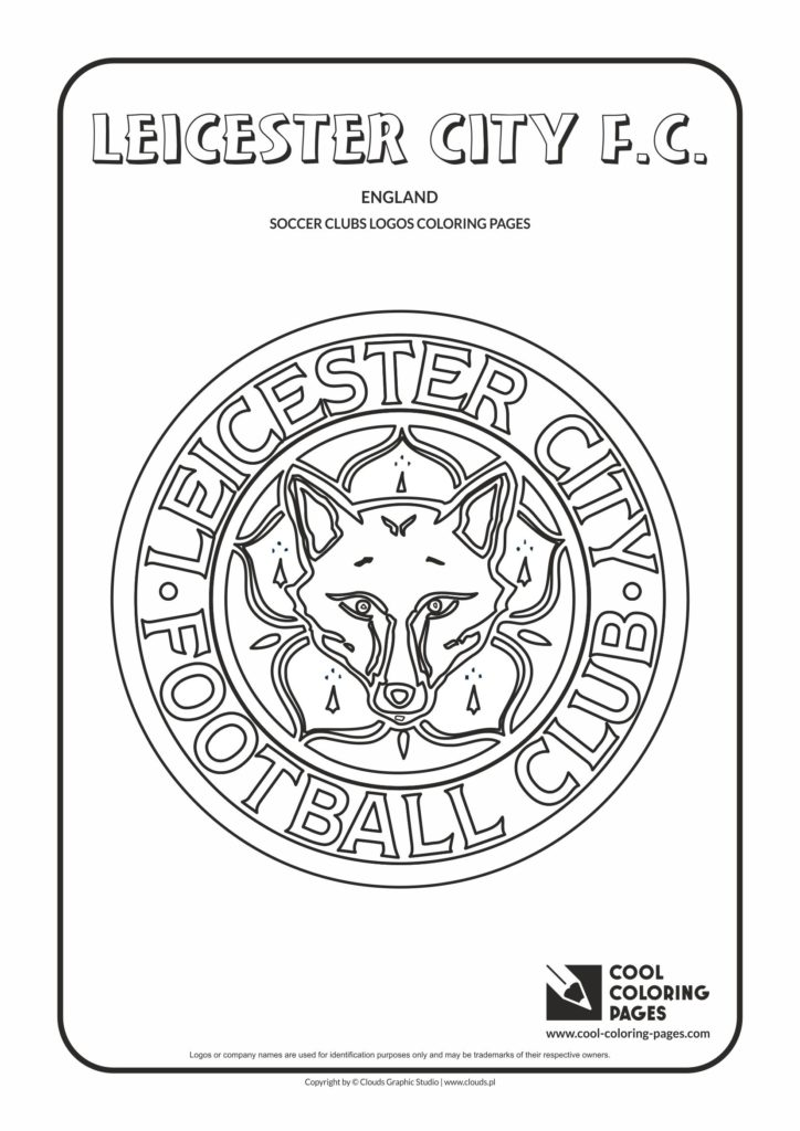 Cool Coloring Pages Leicester City FC logo coloring page