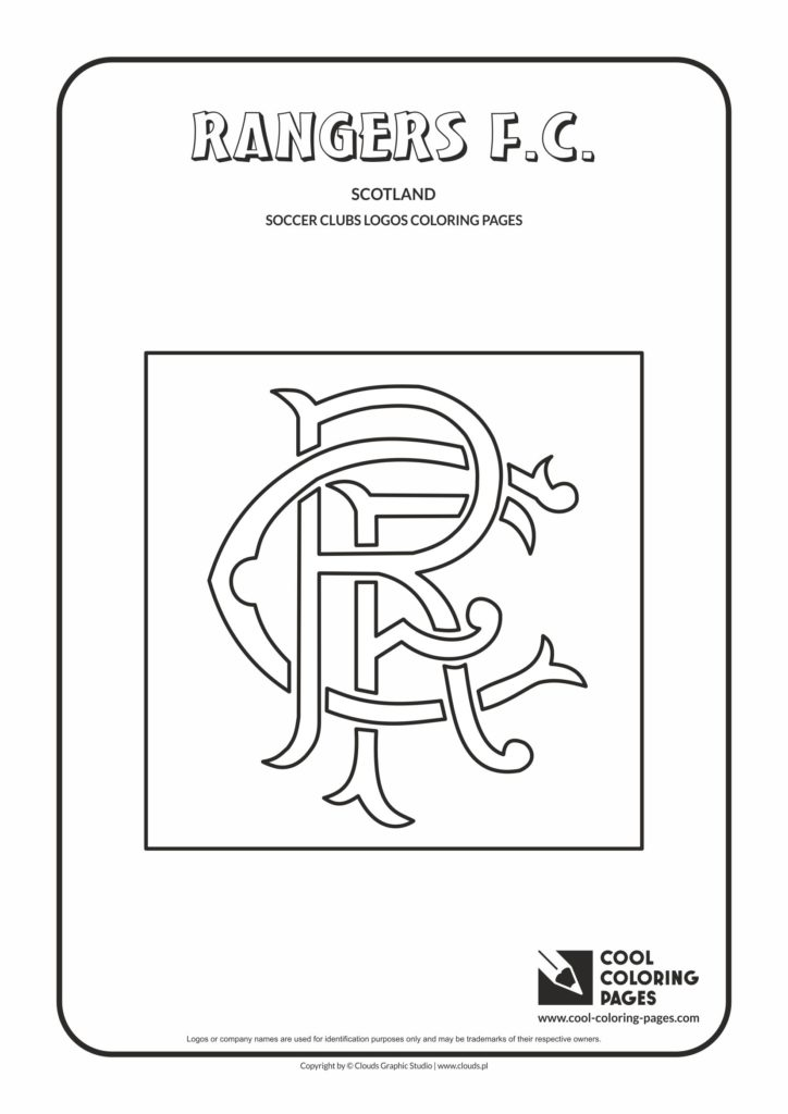 Cool Coloring Pages Rangers F C Logo Coloring Page Cool