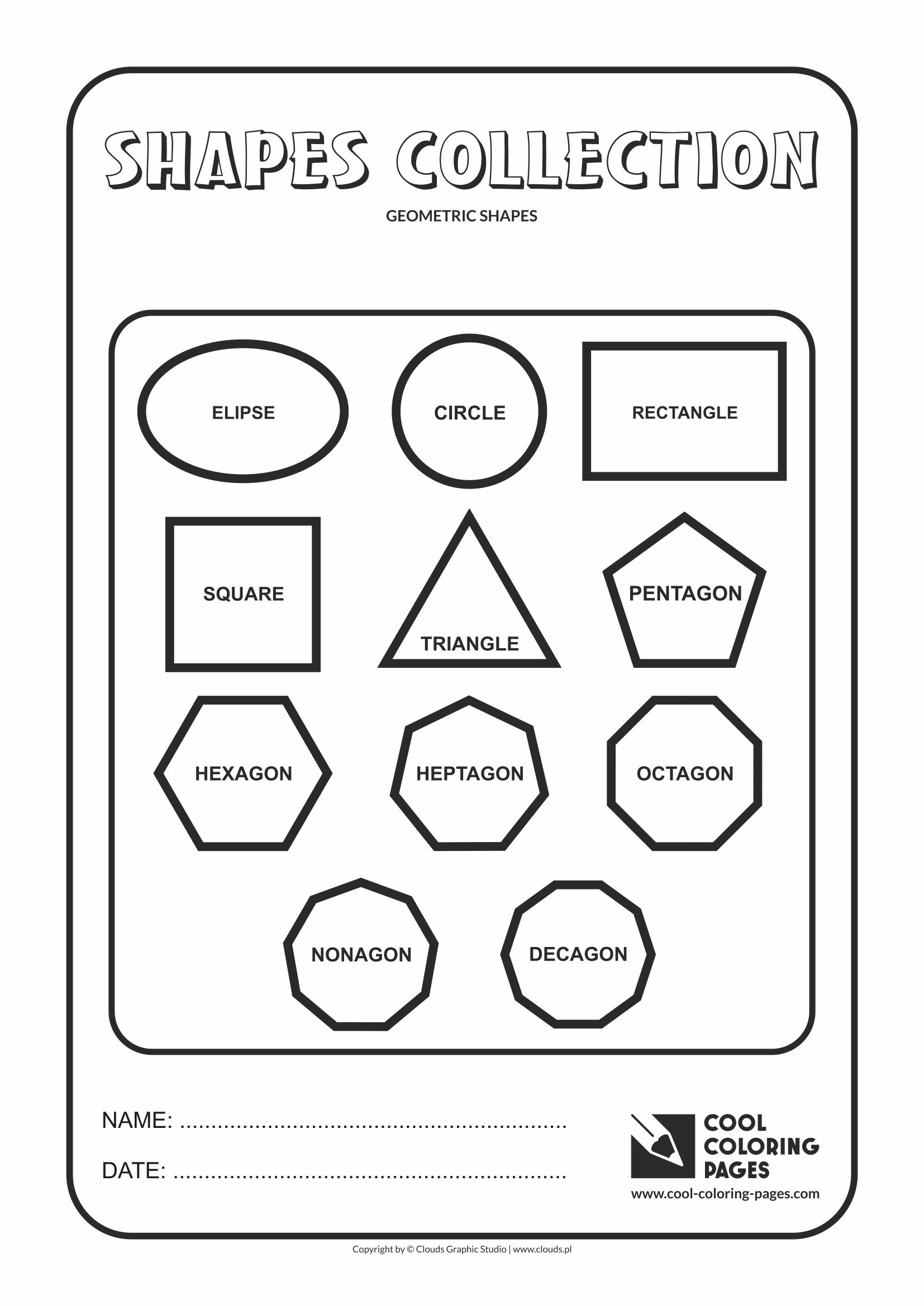 Geometric shapes for kids. Geometry