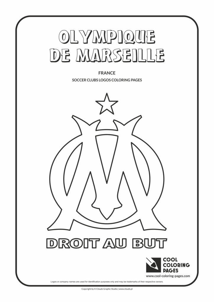 Cool Coloring Pages Olympique de Marseille logo coloring