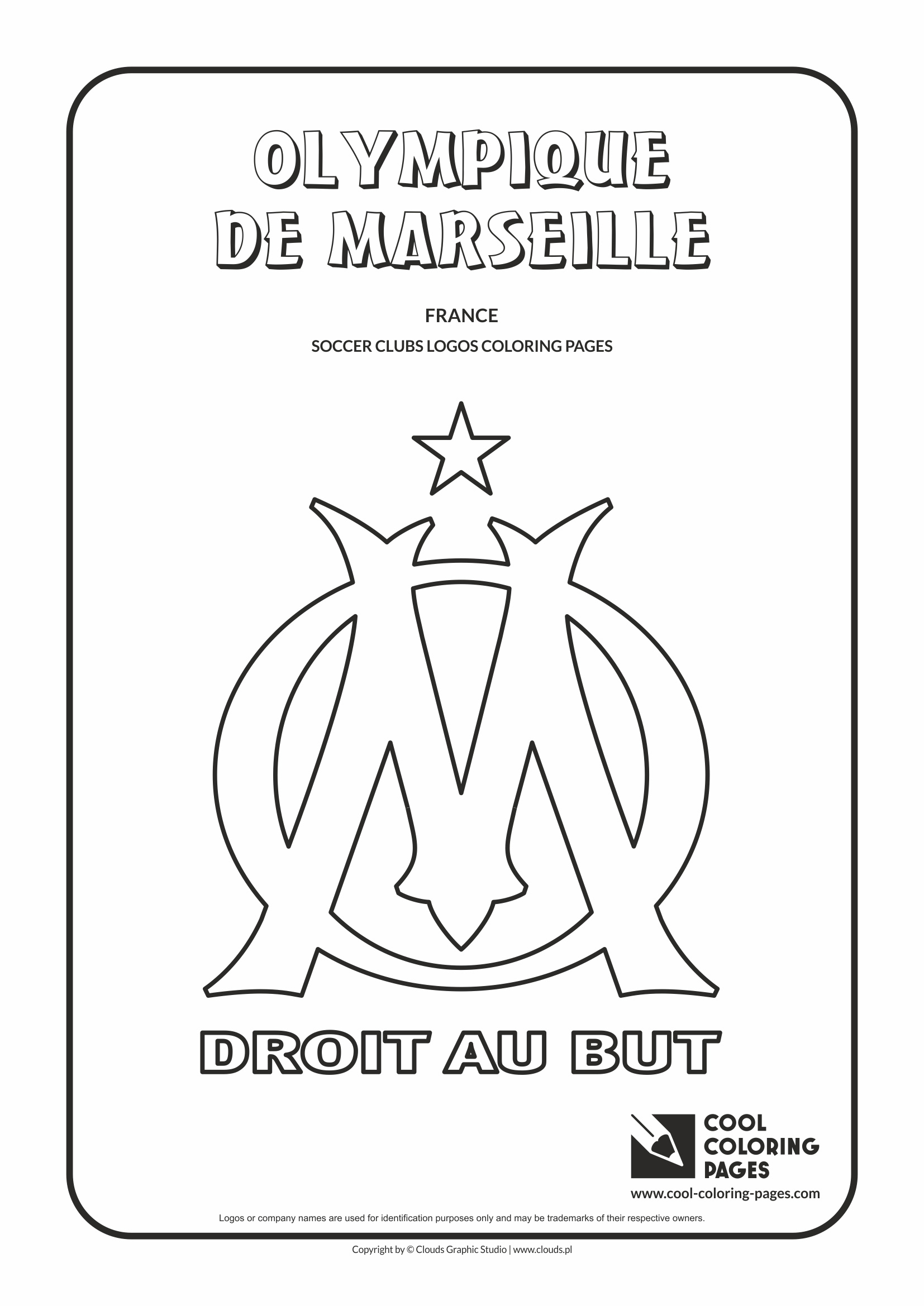 Olympique de Marseille logo coloring / Coloring page with Olympique Marsylia | Cool Coloring Pages