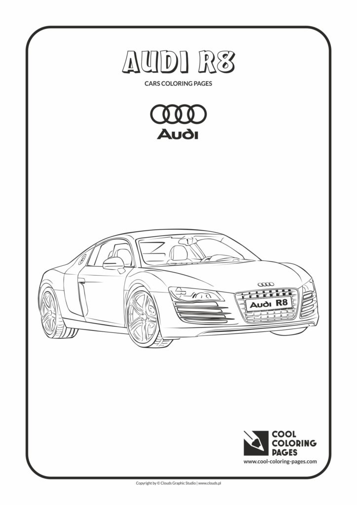 Cool Coloring Pages Audi R8 Coloring Page Cool Coloring