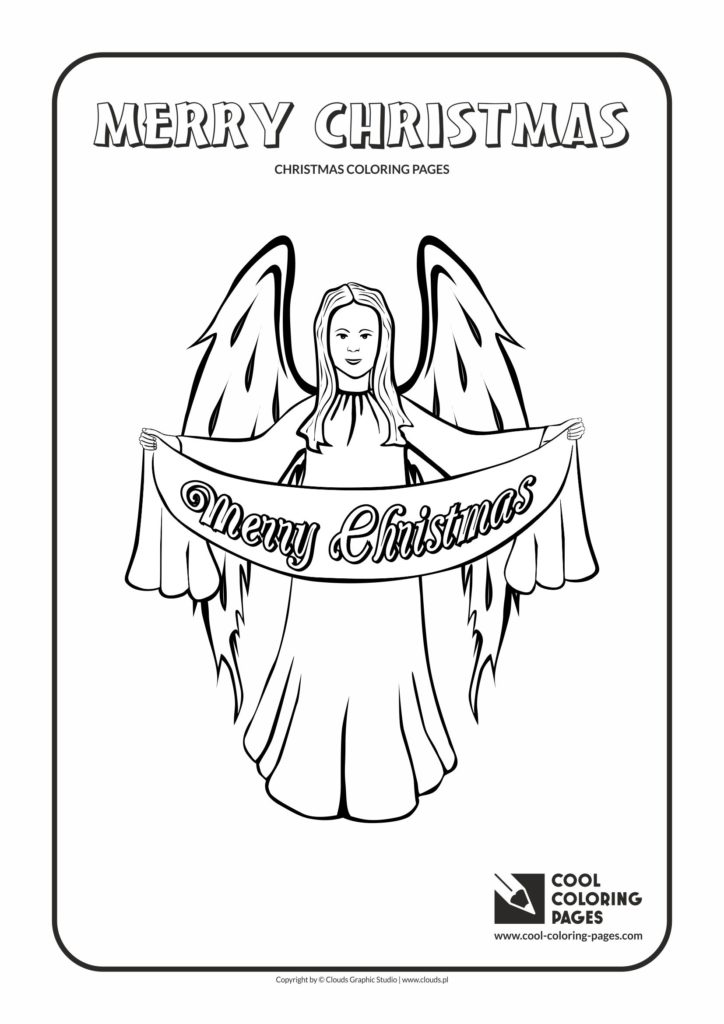 Cool Coloring Pages Christmas Angel Coloring Page Cool