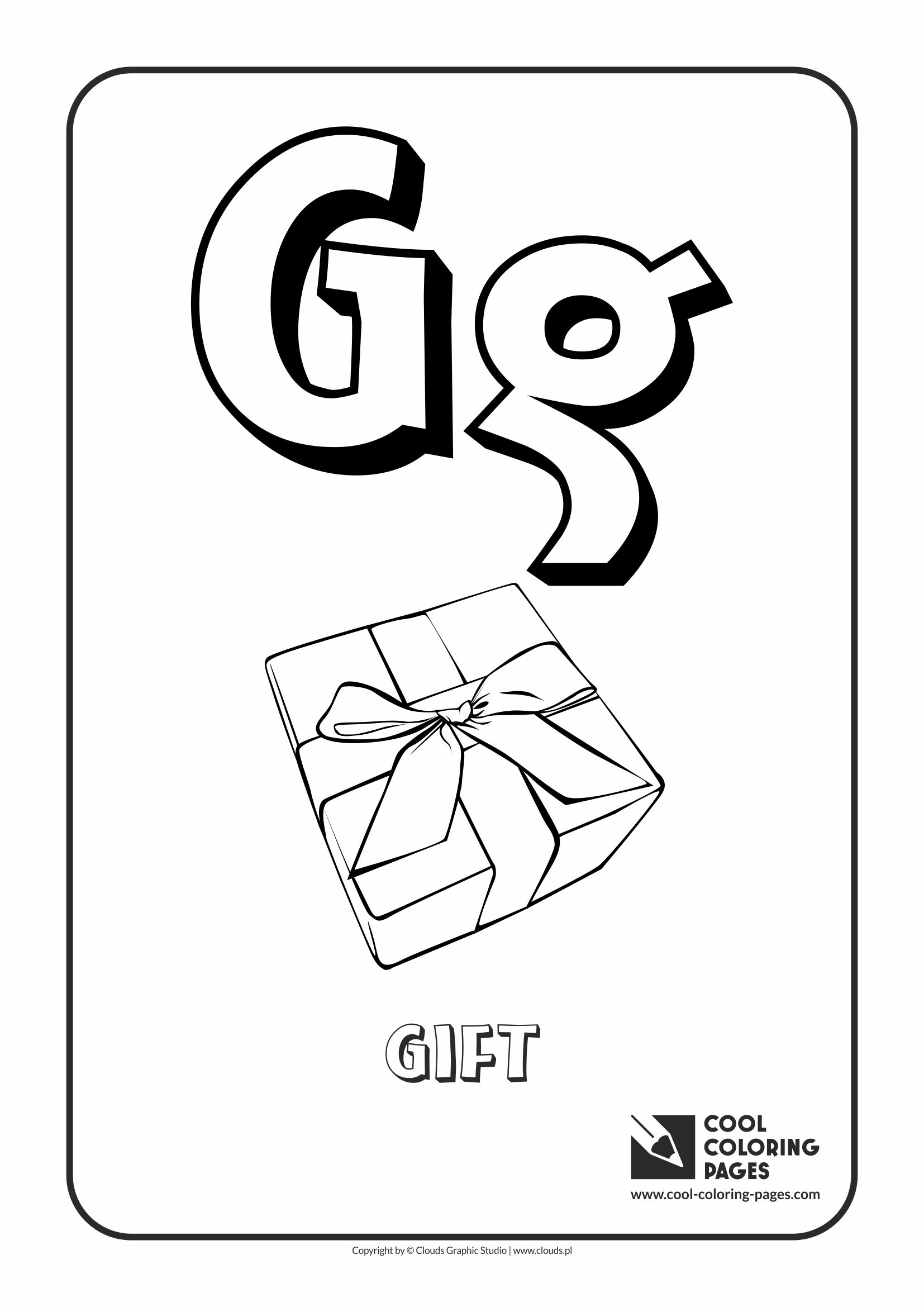 Cool Coloring Pages Letter G Coloring Alphabet Cool Coloring Pages Free Educational Coloring Pages And Activities For Kids