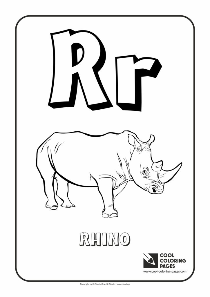 Cool Coloring Pages Letter R Coloring Alphabet Cool