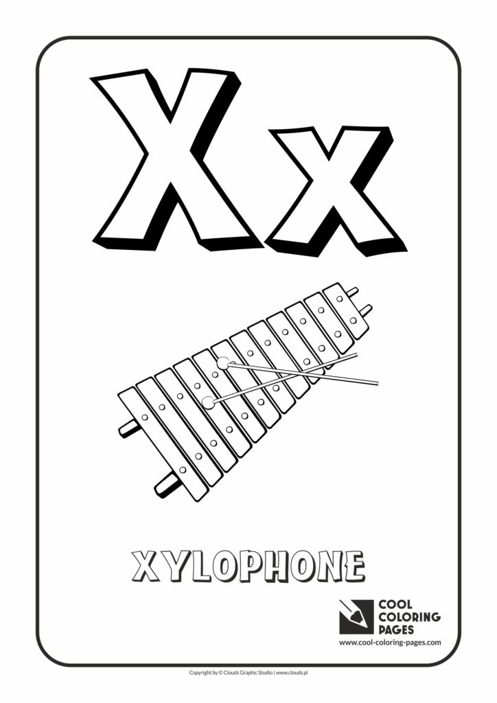 Cool Coloring Pages Letter X Coloring Alphabet Cool
