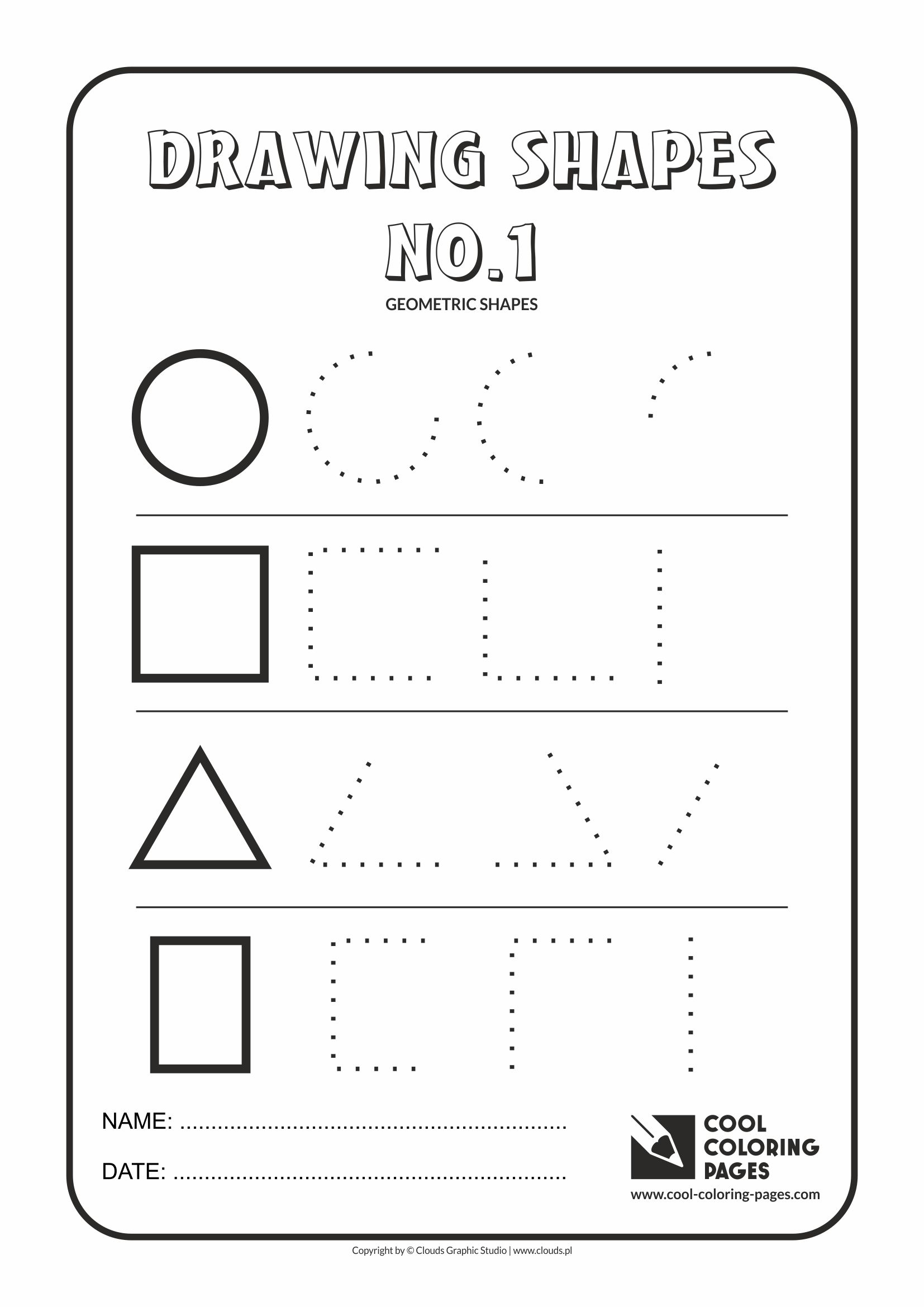 Cool Coloring Pages Geometric Shapes - Cool Coloring Pages ...
