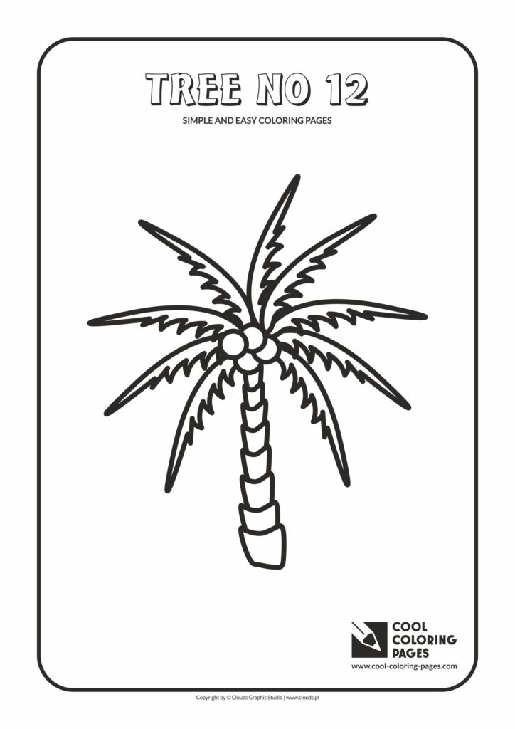 Cool Coloring Pages Simple And Easy Coloring Pages Tree