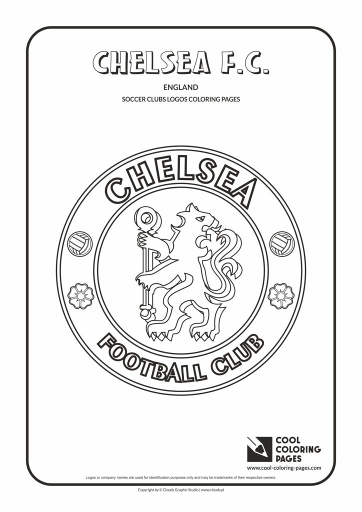 Cool Coloring Pages Chelsea FC logo coloring page Cool Coloring Pages Free educational
