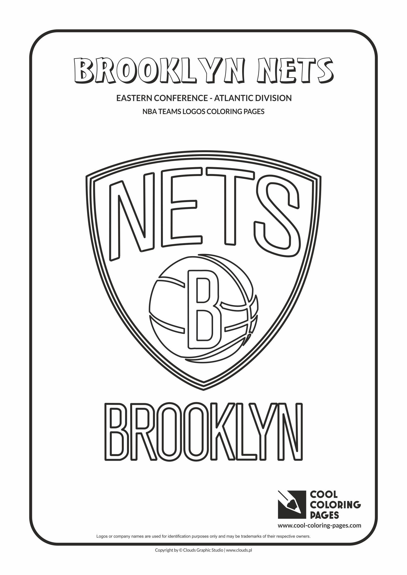 Cool Coloring Pages Brooklyn Nets - NBA basketball teams ...