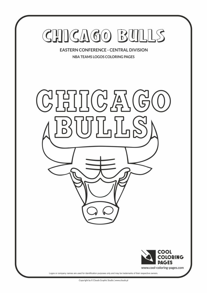 Cool Coloring Pages Chicago Bulls Nba Basketball Teams