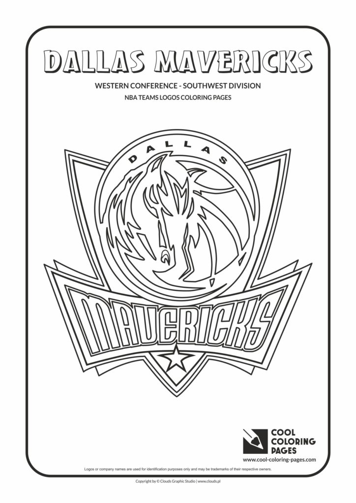 Cool Coloring Pages Dallas Mavericks - NBA basketball ...