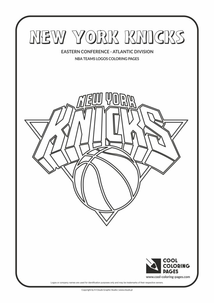 Cool Coloring Pages New York Knicks Nba Basketball Teams