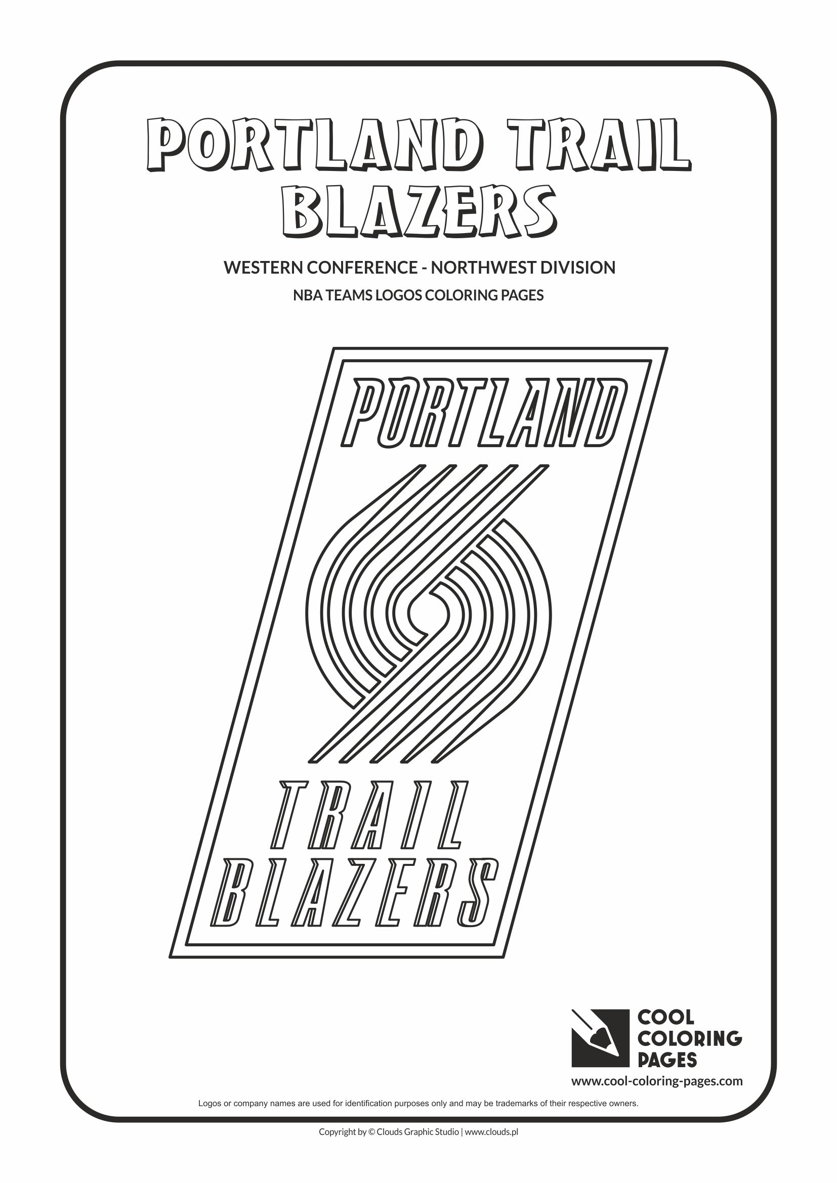 Cool Coloring Pages NBA teams logos