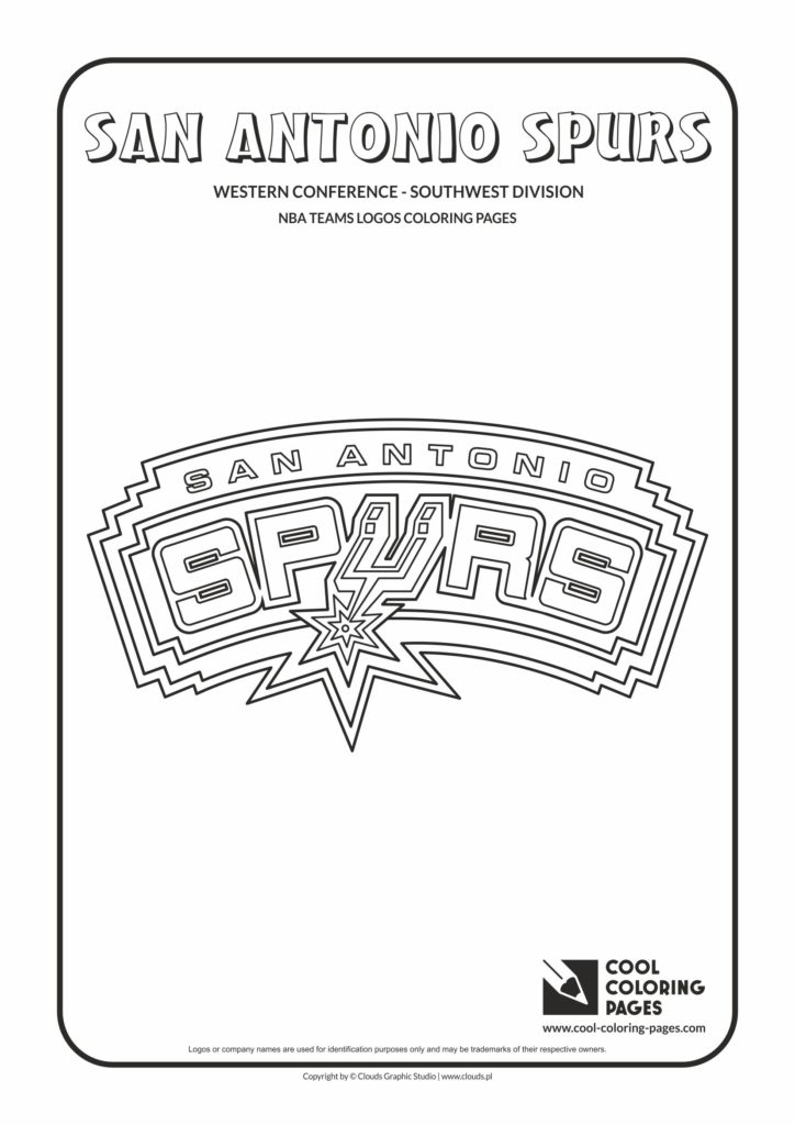 Cool Coloring Pages San Antonio Spurs Nba Basketball