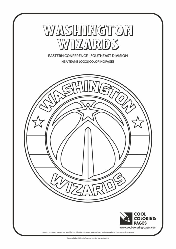 Cool Coloring Pages Washington Wizards Nba Basketball
