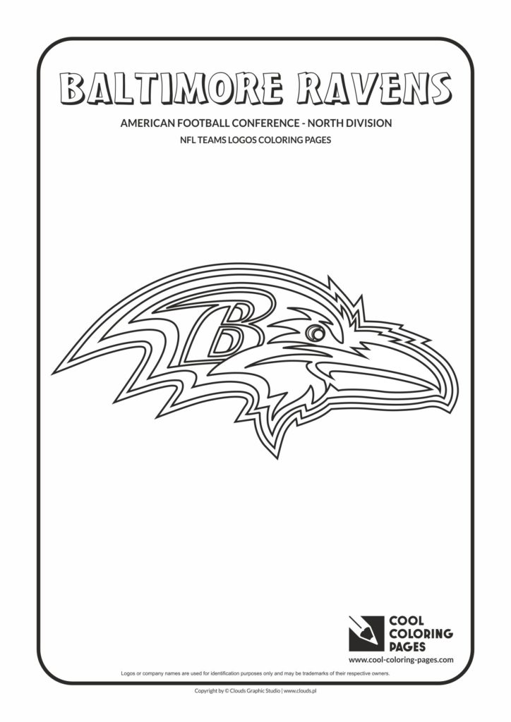 Cool Coloring Pages Baltimore Ravens Nfl American