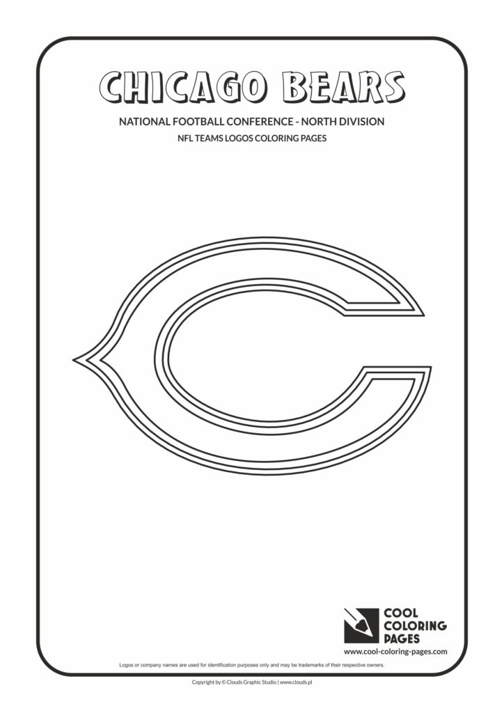 Cool Coloring Pages Chicago Bears Nfl American Football