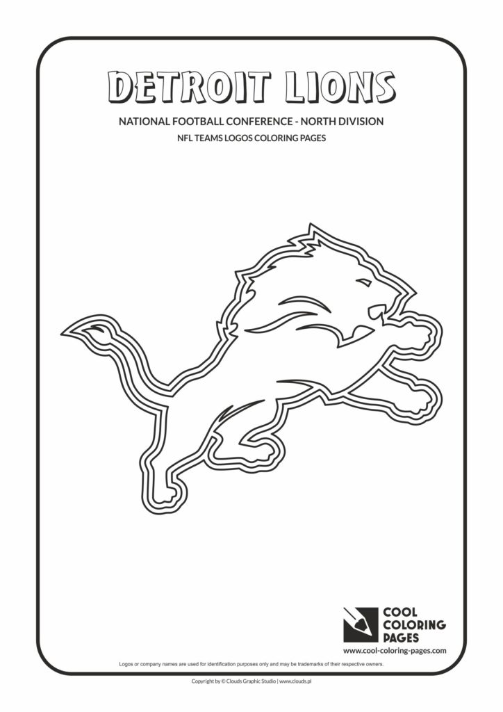 Cool Coloring Pages Detroit Lions - NFL American football teams logos coloring pages - Cool ...