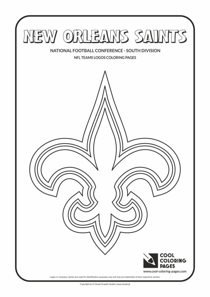Cool Coloring Pages New Orleans Saints NFL American