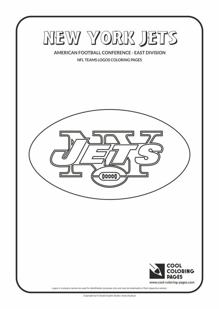 Cool Coloring Pages New York Jets Nfl American Football