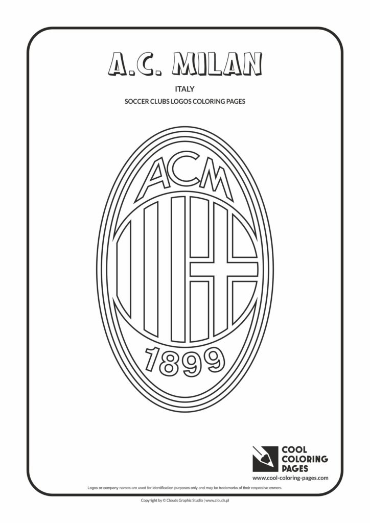 Cool Coloring Pages A C Milan Logo Coloring Page Cool