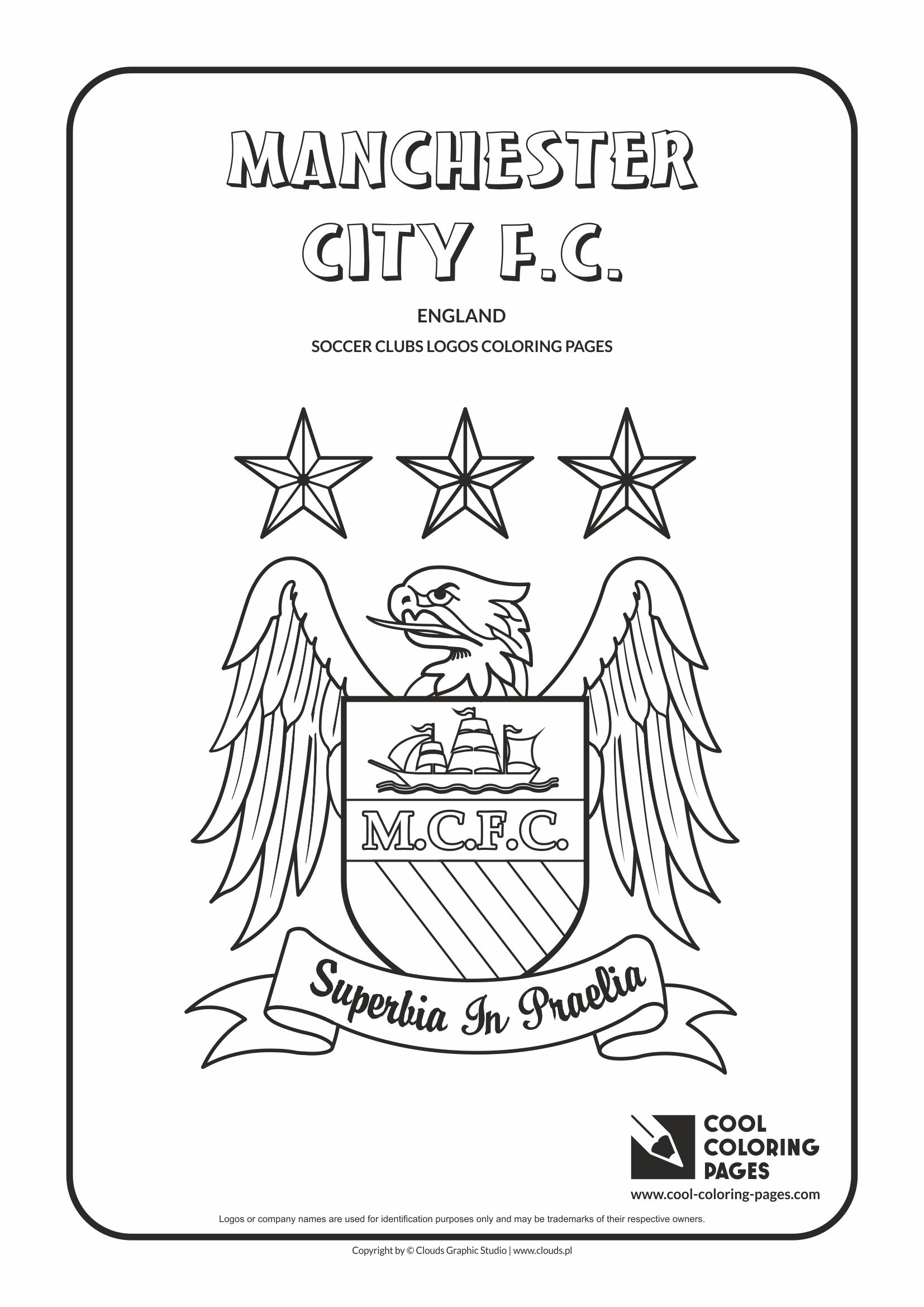 Cool Coloring Pages Soccer clubs logos - Cool Coloring
