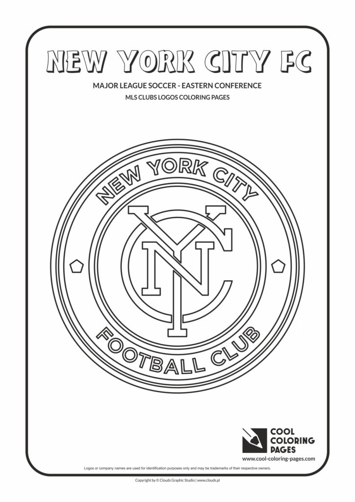 Cool Coloring Pages New York City Fc Logo Coloring Pages