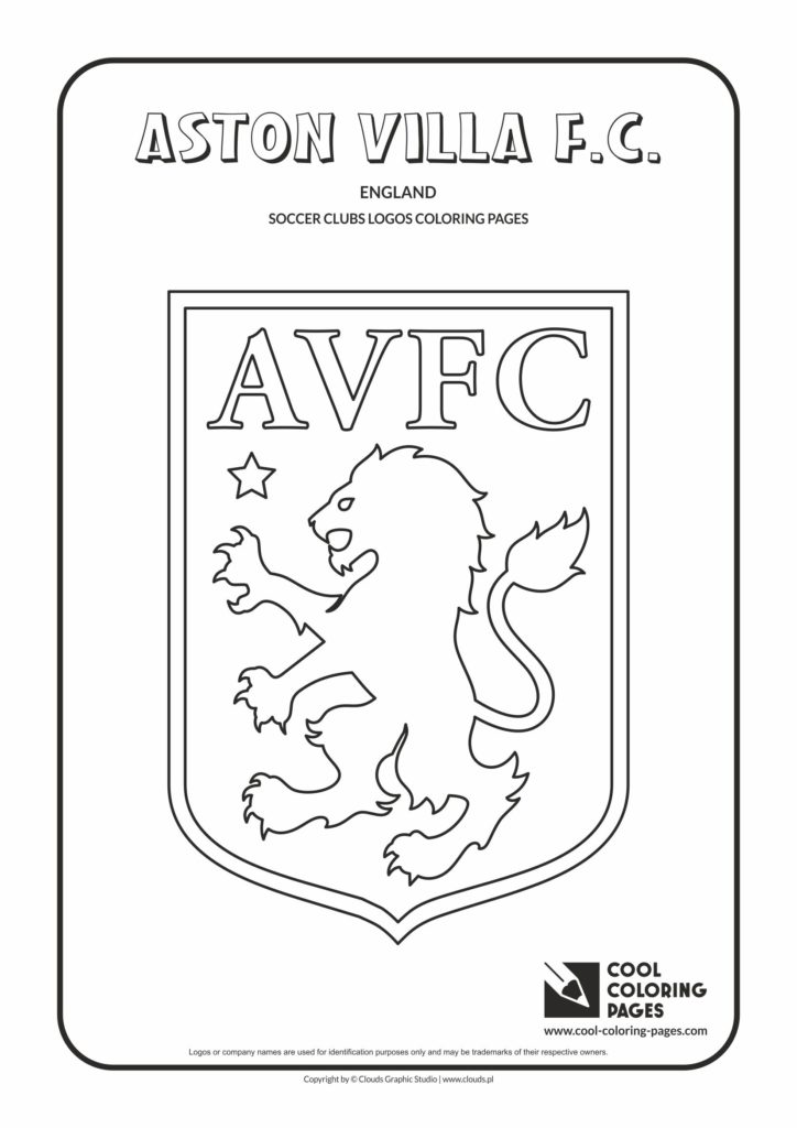Cool Coloring Pages Aston Villa F C Logo Coloring Page