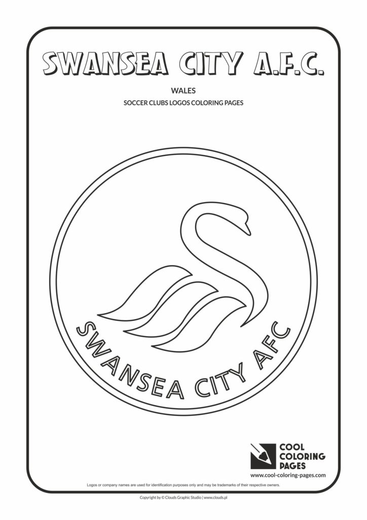Cool Coloring Pages Swansea City A F C Logo Coloring Page
